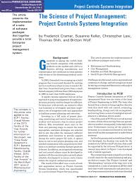 The Science Of Project Management Project Controls Systems