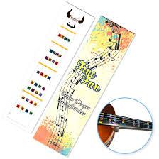 Finefun Violin Finger Guide Fingerboard Sticker Fret Guide Label Finger Chart For Size 4 4 3 4 1 2 1 4 1 8 1 10 4 4 Transparent