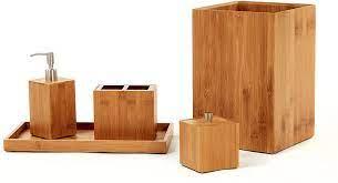 Amazon Com Seville Classics Box Utensil Kitchen Tool Holder Storage Organizer Bathroom Set Bamboo Home Kitchen