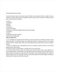 Preschool Teacher Resume Examples Preschool Teacher Job Description ...