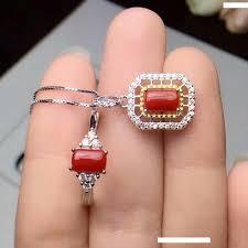 2019 <b>Shilovem 925 Sterling Silver</b> Natural Red Coral Pendants ...