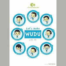 Lets Learn Wudu Poster Ali Blue Laminated Wudhu Chart Namaz