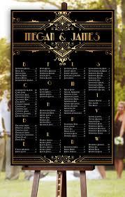 Standard Seating Chart Size Wedding Seating Chart