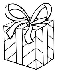 My Christmas Present Coloring Page | Arts & Crafts: Gift Templates ...