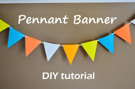 make your own birthday banner party time paper pennant banner food fam crafts fun