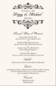 Fancy Restaurant Menu Wedding Menu Cards Vintage Monogram Menu Cards Special Event