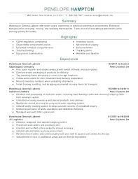 Laborer Resume Examples General Resume Sample Laborer Resume Sample ...