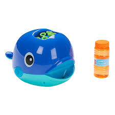 play day bubble whale battery operated bubble maker toy with bubble solution 4 ounces