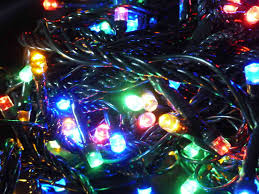 50 multi colour tree fairy lights multi action indoor outdoor led timer 5m