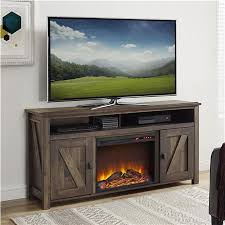 farmington electric fireplace tv console for tvs up to 60 rustic
