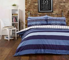 rapport varsity richmond british style blue striped duvet cover quiltset bedding