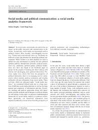 social media and political communication a social media  social media and political communication a social media analytics framework pdf available