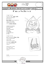 Worksheet: I'm A Believer