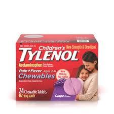 Children S Chewable Tylenol Dosage Chart Childrens Tylenol Chewables 24ct
