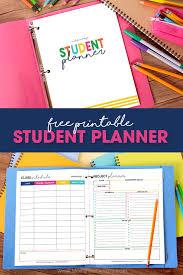 free school planner printables free printable student planner elementary junior high