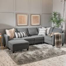 cool couches sectionals. Zahra 6-piece Fabric Sofa Sectional With Ottoman By Christopher Knight Home Cool Couches Sectionals