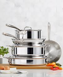 <b>All</b>-Clad D3 Compact <b>8</b>-Piece Cookware <b>Set</b>, Created for Macy's ...