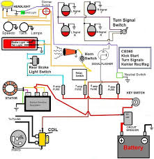 basic wiring diagram for kawasaki drag bike wiring diagram cafe racer wiring turn signals cb750 research