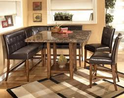 Dining Room: Nook Dining Table Set - 25 - Corner Nook Wood Dining Table Set