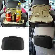 accessories auto car back seat folding table drink food cup tray holder stand desk laptop dinning