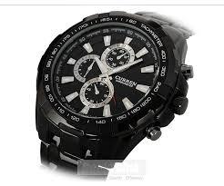 buy curren quartz stainless steel black vogue business man men s watch case diameter approx 5 2cm watch case material stainless steel watch dial color black width of watch belt approx 2 2cm
