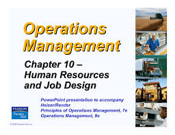 Principles Of Job Design Chapter 10 Human Resources And Job Design