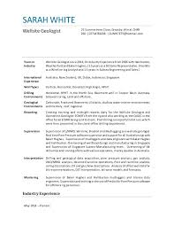 Operations Geologist Job Well Site Geologist Resume Sample Piping