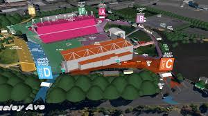 Map Coldplay Concert Mt Smart Stadium 3 December 2016
