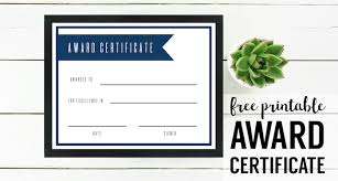 Printable Awards And Certificates Free Printable Award Certificate Template Paper Trail Design