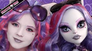 catrine demew monster high doll costume makeup tutorial for cosplay