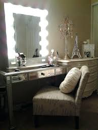 dressing table lighting. Gorgeous Lighted Vanity Table With Mirror And Bench . Light Up Dressing Lighting