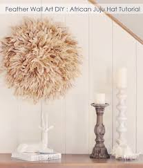 feather wall art diy african juju hat
