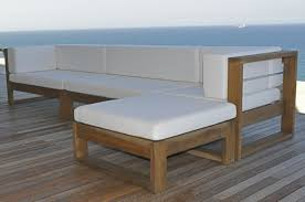 modern wood patio furniture. Modern Wood Patio Furniture : Outdoor Large Slate O