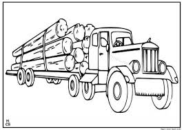 Small Picture Logging Semi Truck coloring pages