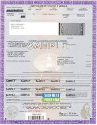 Fake Car Title Templates How To Get A Title In Illinois In 2019 Illinois