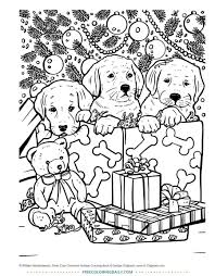 Puppy Christmas Coloring Pages 6