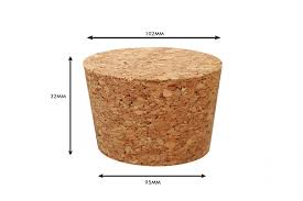 Tapered Cork Stoppers Size 95mm 102mm