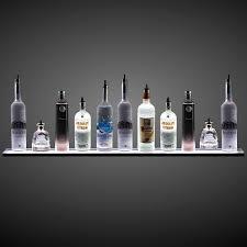 com 3 wall mounted led liquor shelf with wireless rf lighted glass bar shelves and