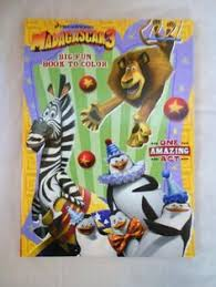 madagascar 3 big fun book to color coloring book one amazing act by game artcoloring booksmadagascarvine