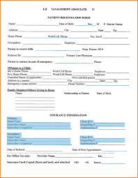 Medical Office Registration Form Templates Patient Registration Formemplateemplates Gotta Yotti Co Samples New