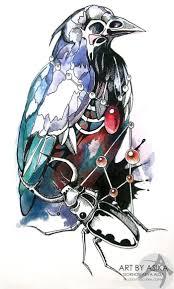 эскизы ворон значение татуировки с вороной птицы ворон эскиз