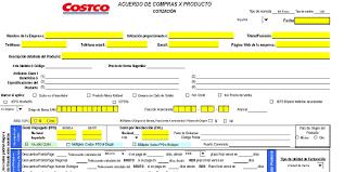 Formato De Cotizacion Para Llenar Acuerdo De Compras X Producto Mx Item Agreement Excel Proveedores