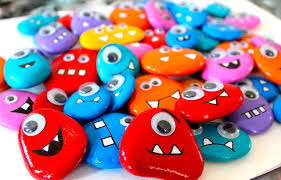 VIEW IN GALLERY Googly monster rock magnets
