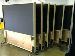 diy office partitions. Diy Office Dividers Rolling Distressed Wood Magnetic Chalkboard Partitions Wall Unit