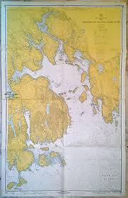 Vintage 1970 Nautical Chart 306 Frenchman Bay Mount Desert