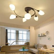 joypeach rustic style led flush mount ceiling lights creative living room