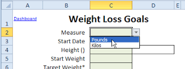 weekly weigh in charts weight loss tracker