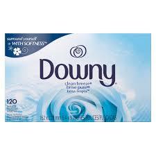 Downy Clean Breeze Fabric Softener Dryer Sheets, 120 count - Walmart.com