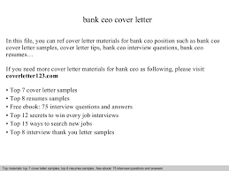 covering letter for bank bank ceo cover letter