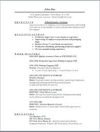 Examples Of Objective For Resume Administrative Assistant Objective